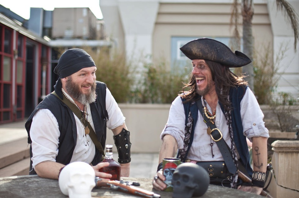 Tour guides dressed as pirates in New Orleans, Louisiana.