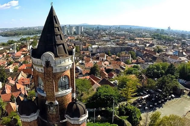 A view of the city of Belgrade.