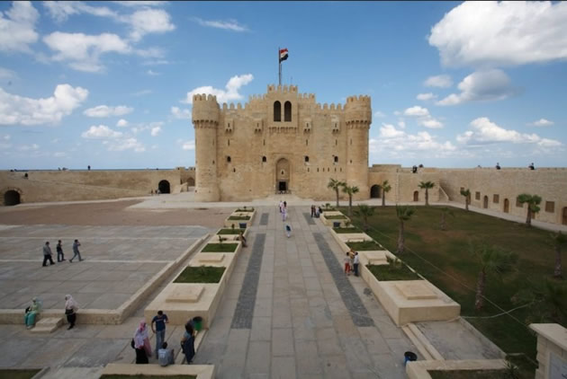 The Qaitbay Citadel in Alexandria, Egypt.