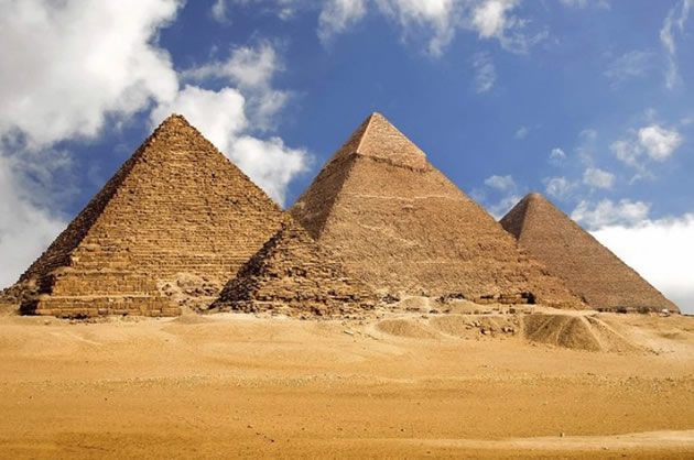 The Great Pyramids in Egypt.