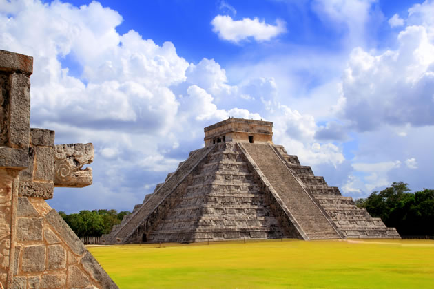 The Chichen Itza near Cancun, Mexico.
