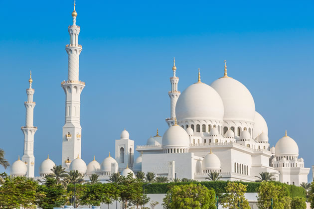 The White Mosque in Abu Dhabi.