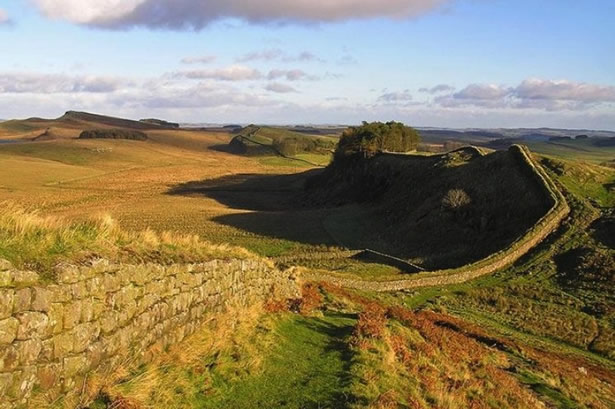 Hadrian's wall as it stands today.