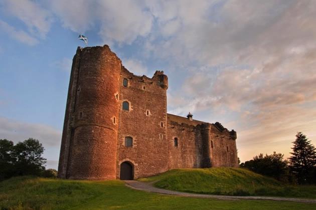 A castle near Edinburgh, Scotland.