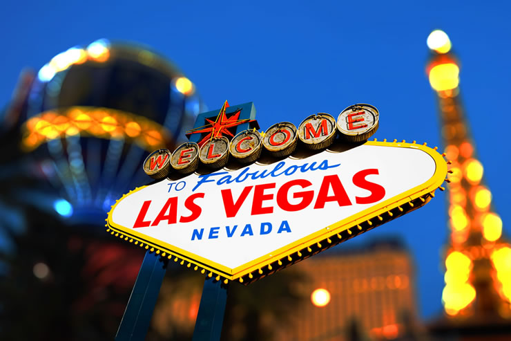 The iconic 'Welcome to Las Vegas sign'