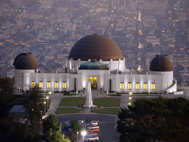 The Griffith Observatory.
