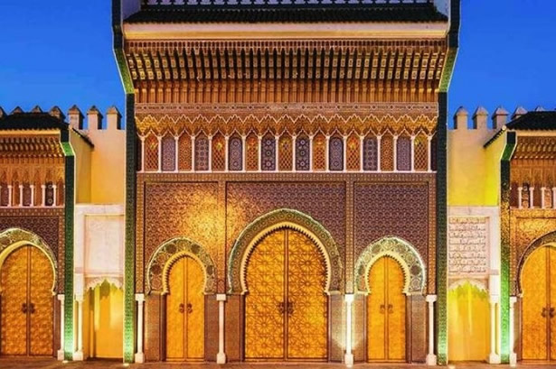 An historic building in Fez, Morocco.