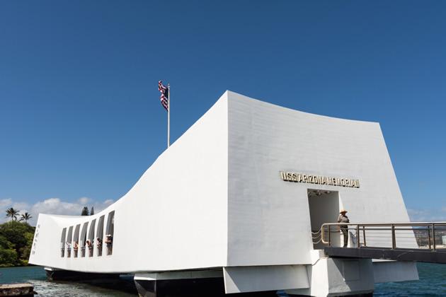 The Pearl Harbor National Memorial in Honolulu, Hawaii.