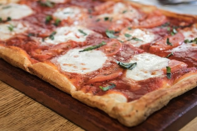 Sicilian style pizza as seen on the Philadelphia Italian food tour.