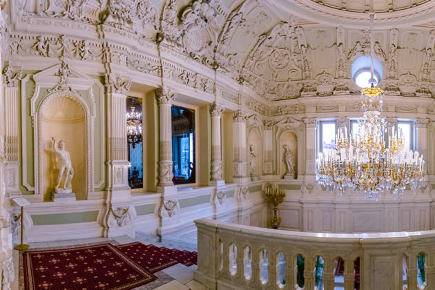Inside the Yusupov Palace in St. Petersburg, Russia.
