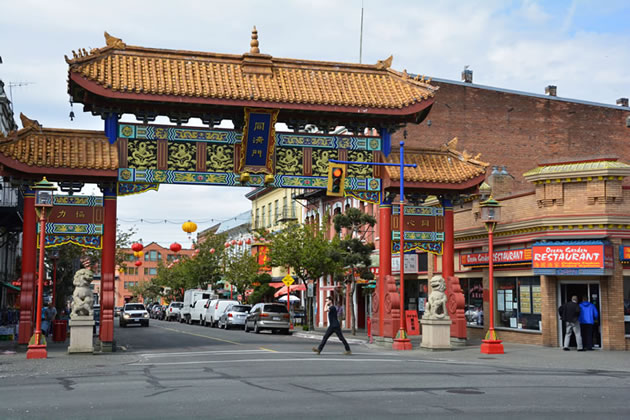 The entrance way to Chinatown in Vancouver.