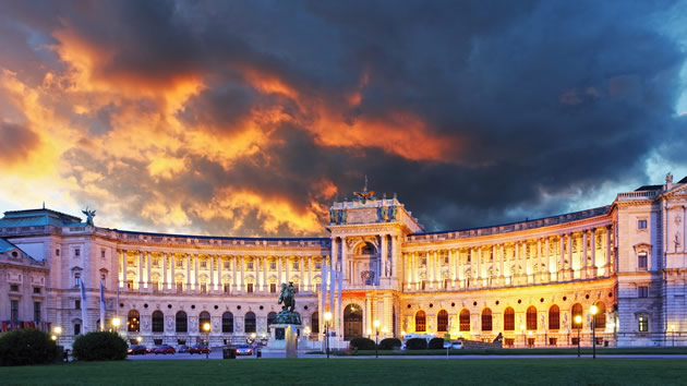 The royal palace in Vienna, Austria.
