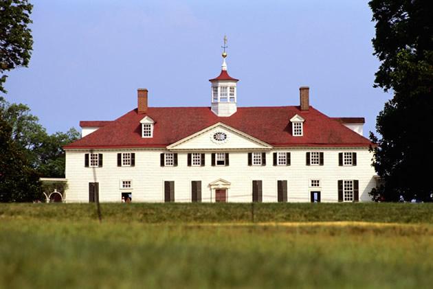 George Washington's house at Mount Vernon.