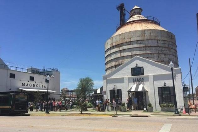 An image of a silo in Waco , Texas.