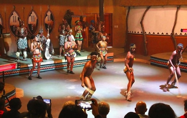 Tribal dancers at Johannesburg's Lesedi Cutlural Center.
