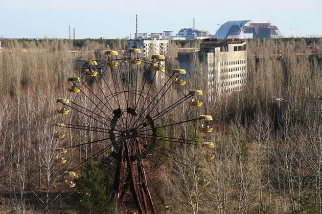 Abandoned Ferris wheel at Pripyat outside Chernobyl.