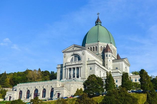 An historic church in Montreal, Canada.