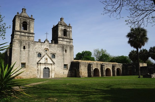 The Mission Conception in San Antonio, Texas.