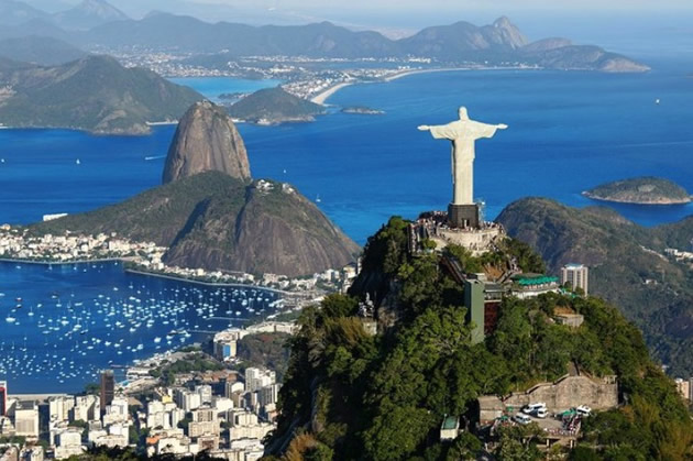 Rio's Christ the Redeemer statue atop a famous hill.