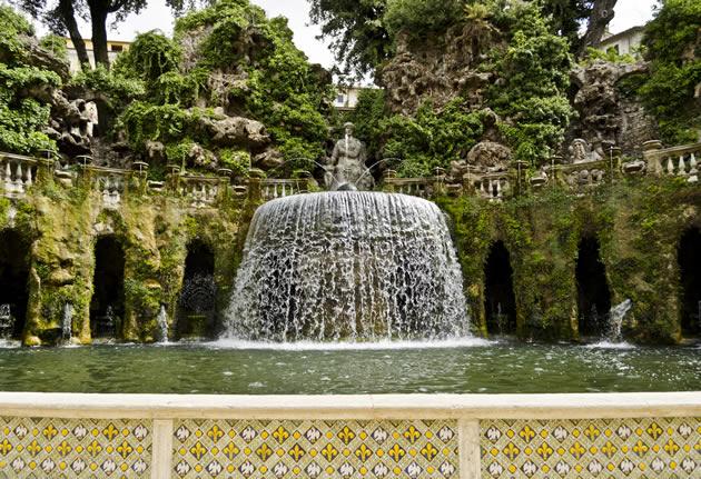 Fountain at Hadrian's Villa.