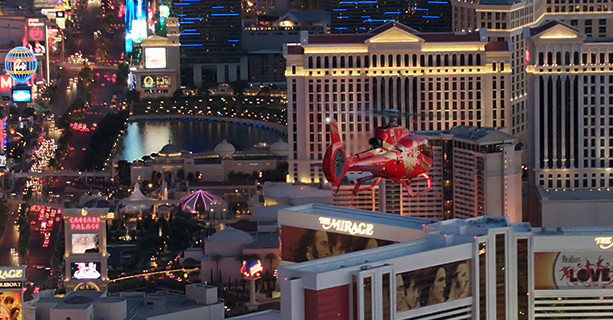 Helicopter tours over the Las Vegas Strip.